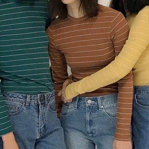 Oak + Fort | Striped Long Sleeve Shirt